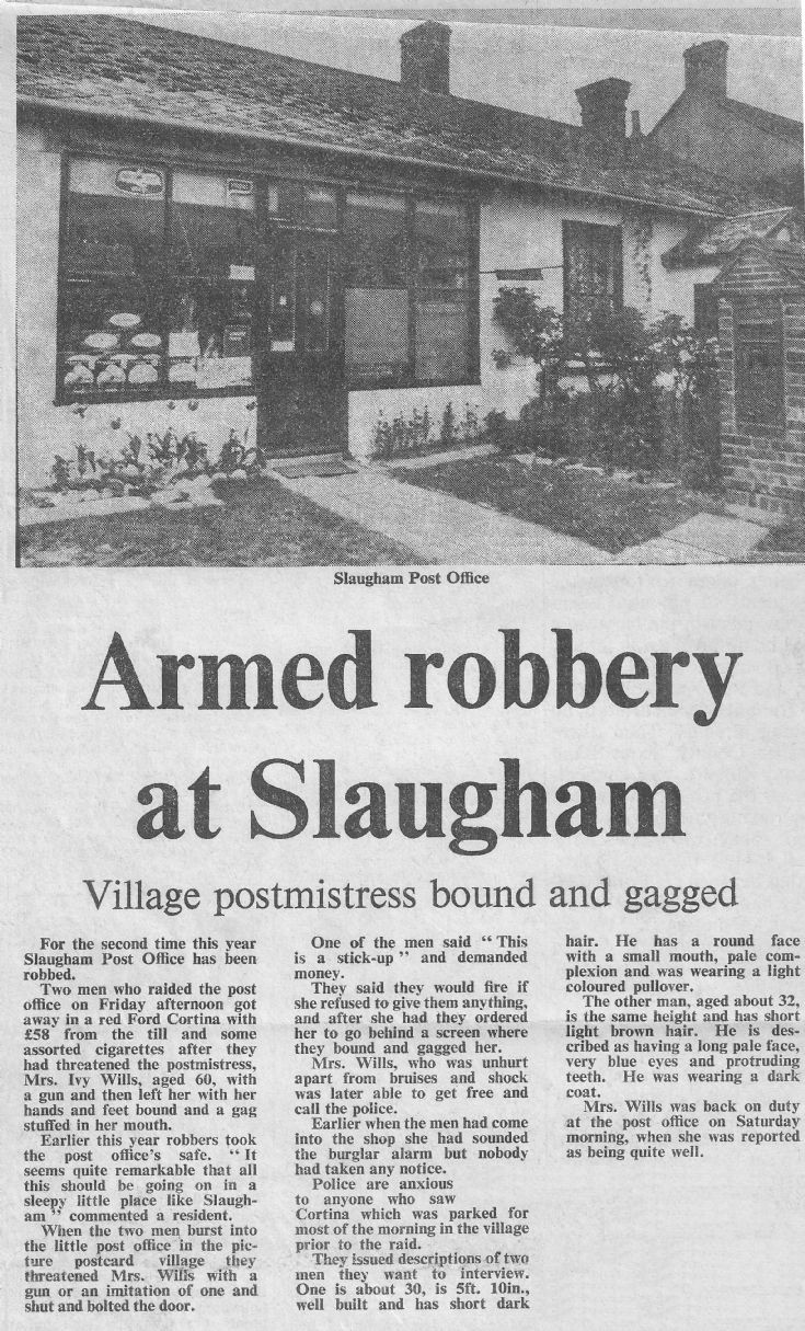 Armed robbery at Slaugham