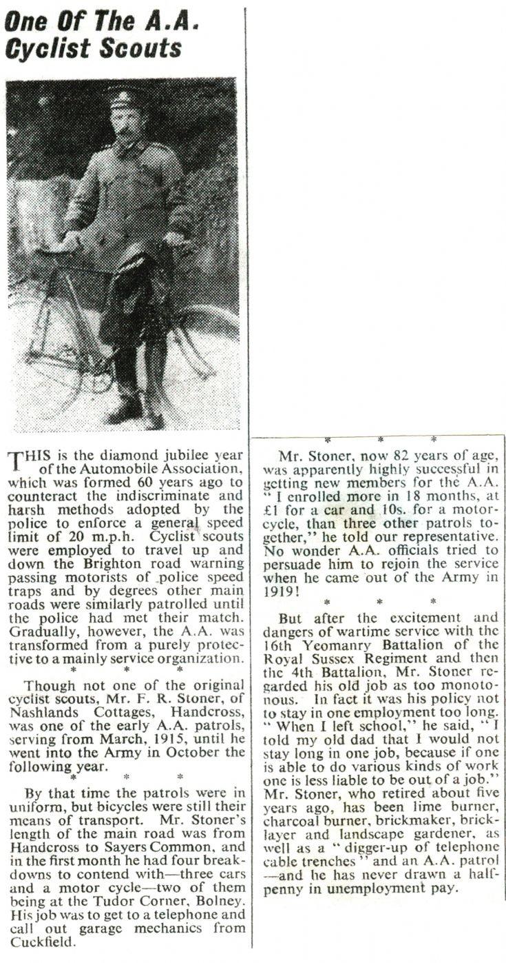 Cycling AA Patrolman from Handcross