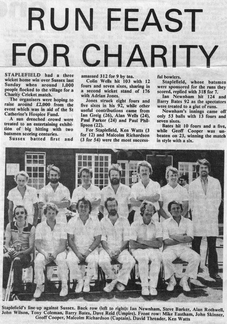 Staplefield cricket club play Sussex CC