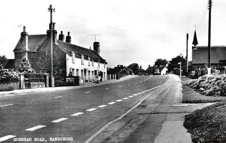 Horsham Road, Handcross looking towards the bridge