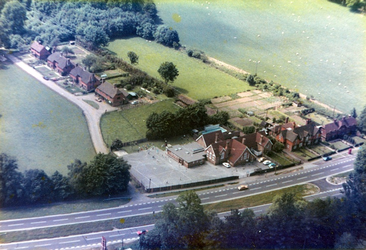 Aerial view of Handcross school
