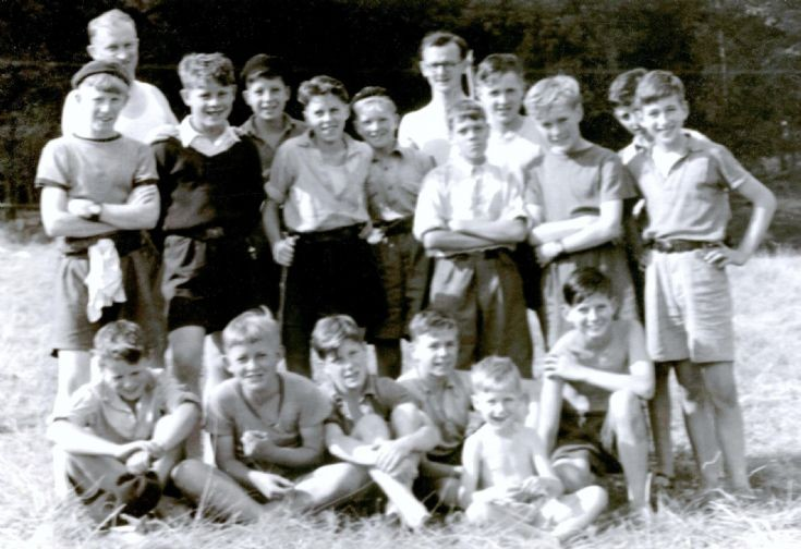 Boy Scouts at summer camp