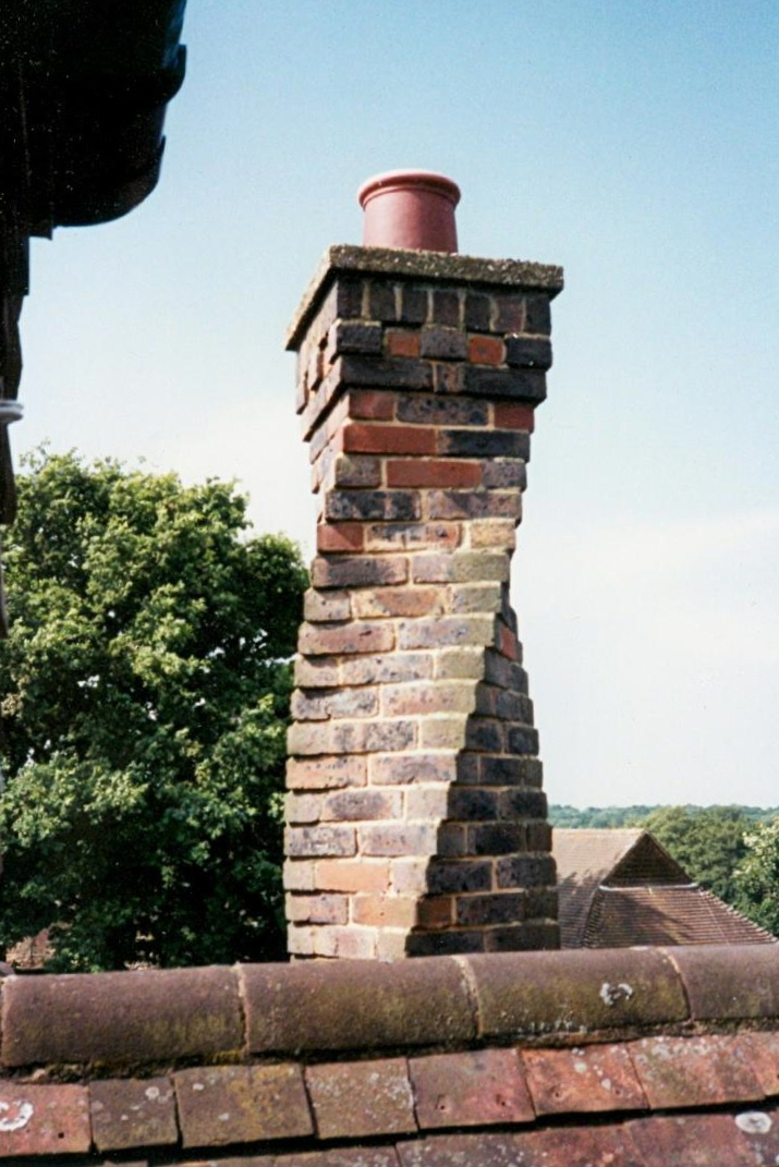 Twisted chimney at Chilmans, Slaugham