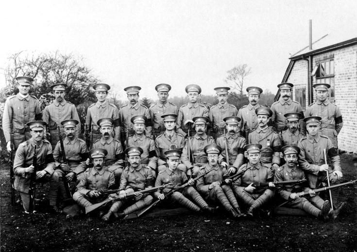 Handcross Volunteers (Home Guard) 1914