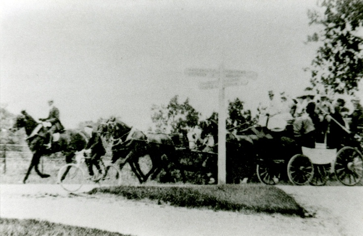 Stagecoach on Handcross Hill