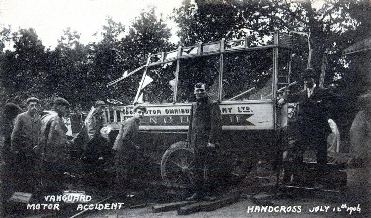 Vanguard accident - Men working