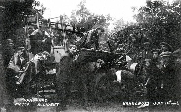 Vanguard accident - Rescue work