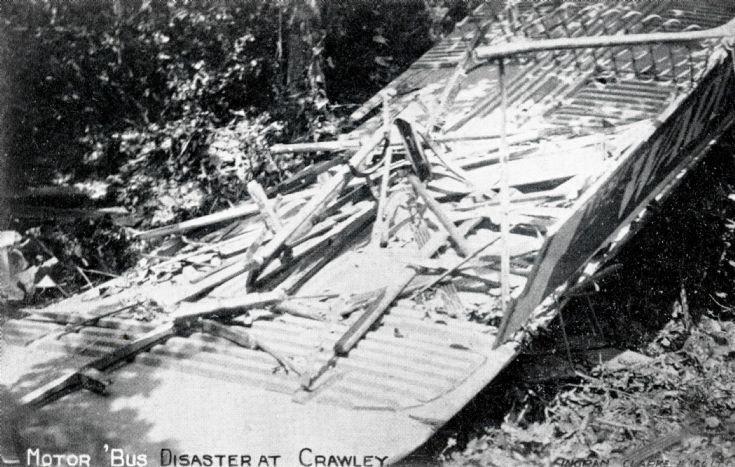Vanguard accident - Upper deck wrecked
